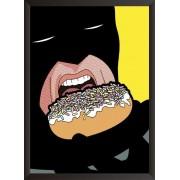 Постер Бэтмен ест пончик
