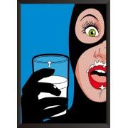Постер Женщина кошка с молоком