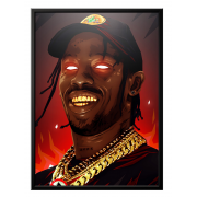 Постер Travis Scott On Fire
