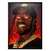 Постер Travis Scott On Fire